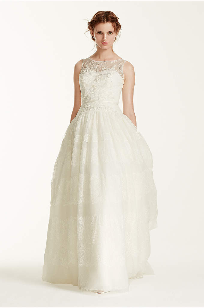 Melissa Sweet Sleeveless Wedding Dress with Tulle