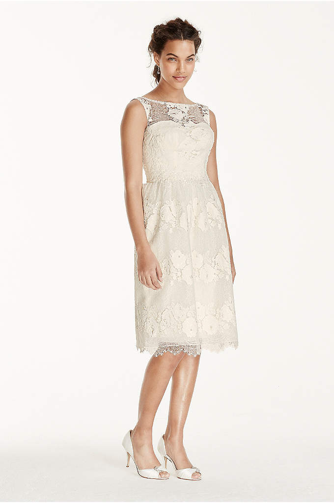Melissa Sweet Tea Length Tank Wedding Dress This Charming And Delicate Is