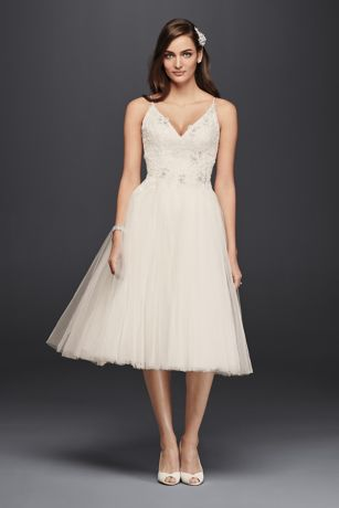 Melissa Sweet Short Tulle V Neck Wedding Dress David S Bridal