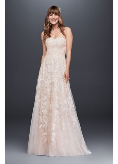 Melissa Sweet Lace A-Line Wedding Dress | David\'s Bridal