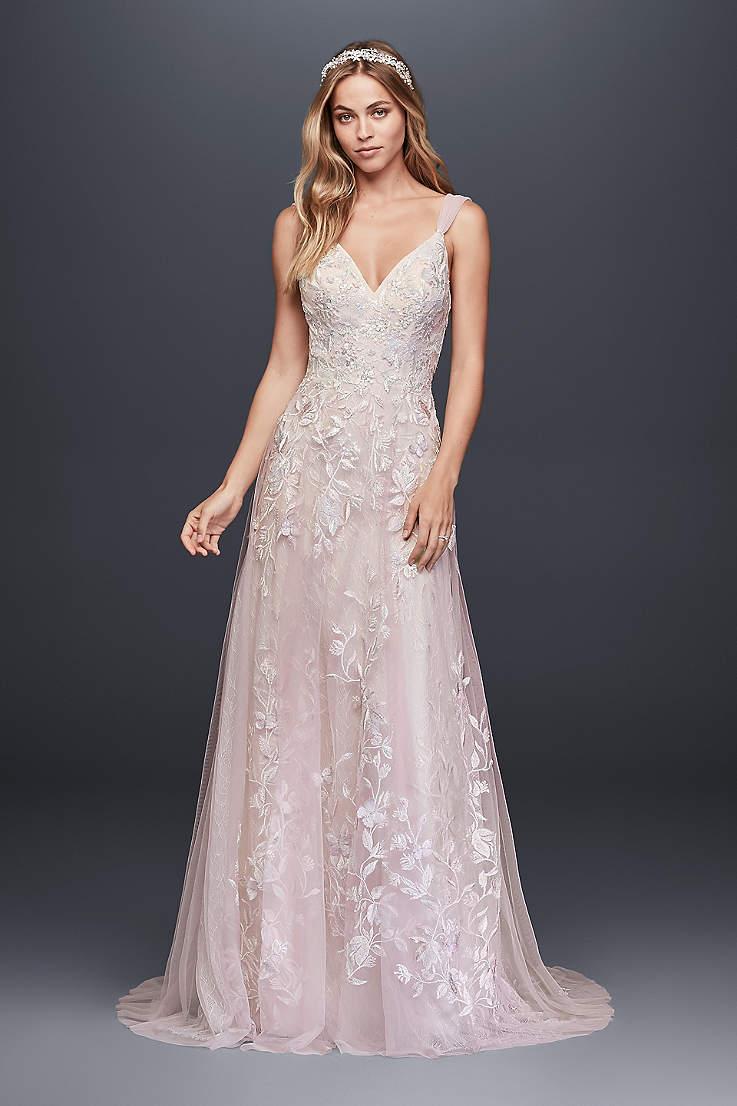 Light Pink & Blush Wedding Dresses | David'