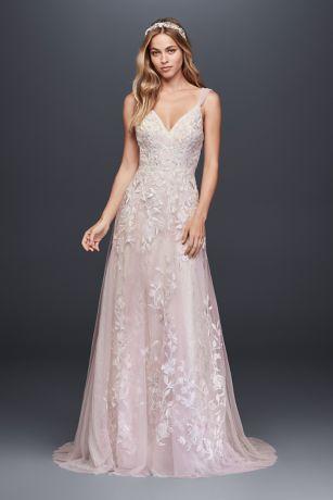 A Line Tulle Wedding Dress