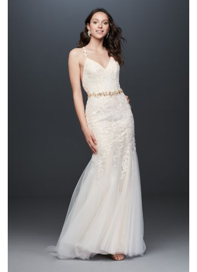 Long Mermaid/Trumpet Country Wedding Dress - Melissa Sweet