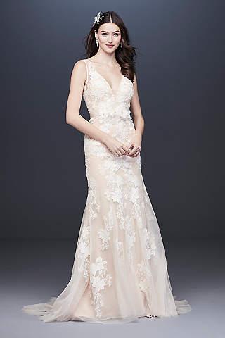 Vestido De Novia Escote-V Floral