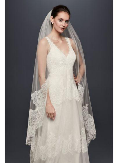 Eyelash Lace-Edge Walking Veil - Wedding Accessories