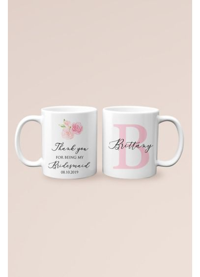 Personalized Thank You Bridesmaid Monogram Mug - Wedding Gifts & Decorations