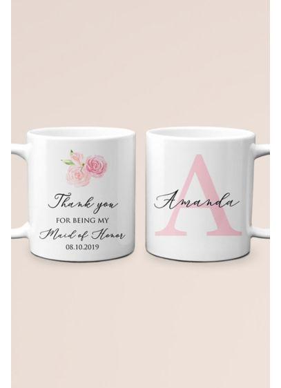 Personalized Thank You Maid of Honor Monogram Mug - Wedding Gifts & Decorations
