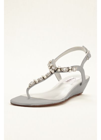 Myra Low Wedge Thong Sandal - These gorgeous low wedge thong sandals transition effortlessly