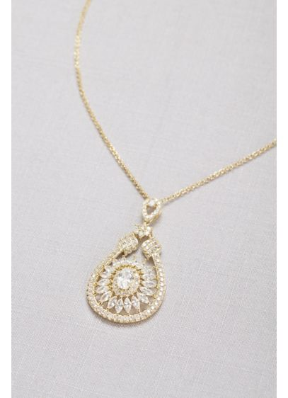 Crystal Web Pendant Necklace - Wedding Accessories
