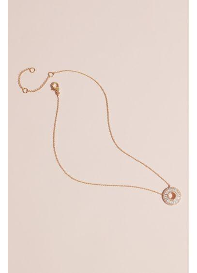 Nina Yellow (Cubic Zirconia Baguette Wheel Pendant Necklace)