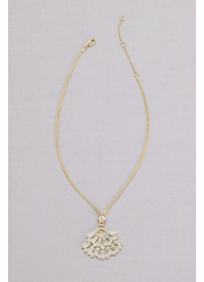 Crystal Baguette Pendant Necklace - Wedding Accessories