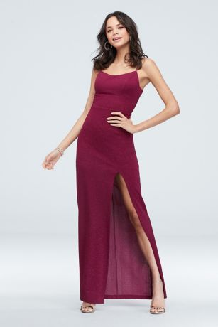 Long Sheath Spaghetti Strap Dress - Teeze Me