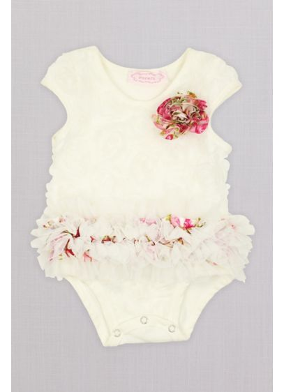 Floral Soutache Infant Flower Girl Bodysuit - Perfect for the littlest flower girl, this bodysuit