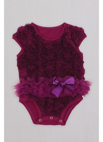 Ribbon Rosette Infant Flower Girl Tutu Bodysuit - Ribbons and tutus, and bows, oh my! Adorned