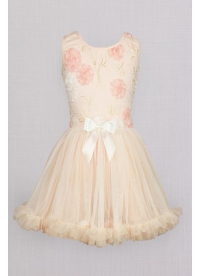 Ballerina Flower Girl Dress with Floral Appliques - It doesn't get any sweeter than this fit-and-flare