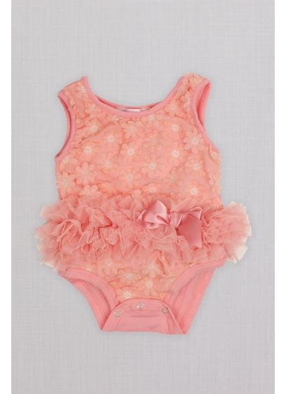 Floral Applique Infant Flower Girl Bodysuit - A beautiful bodysuit for the youngest member of