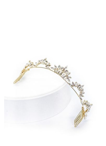 Marquise Crystal Arch Tiara - Curving arches of marquise and pear-cut crystals sparkle