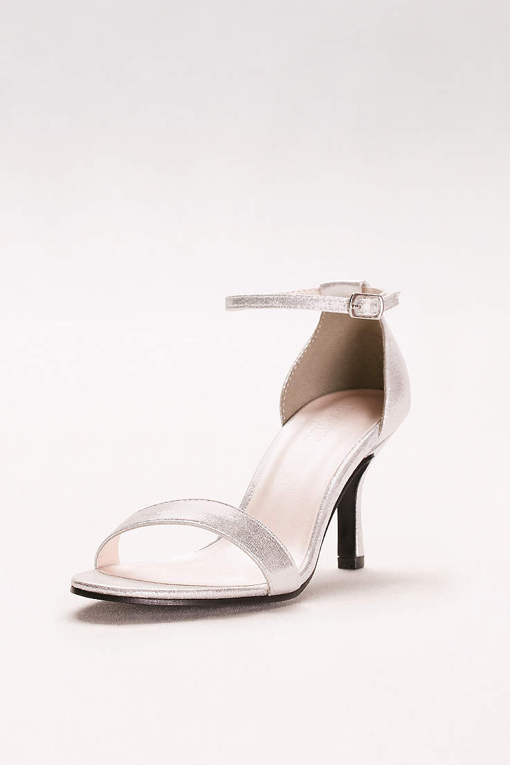 145e72bab David's Bridal Beige;Grey;Pink;Yellow Heeled Sandals (Single Strap Sandal)