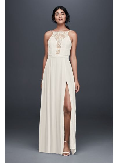 Long Sheath Beach Wedding Dress - NBD