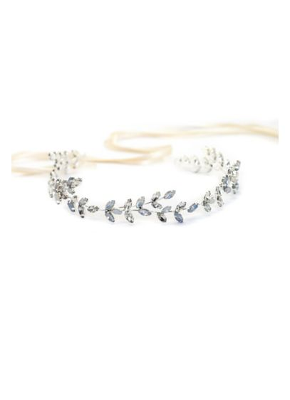 Marquise Crystal Laurel Leaf Halo - Romantic and dreamy, this hand-wired halo of marquise