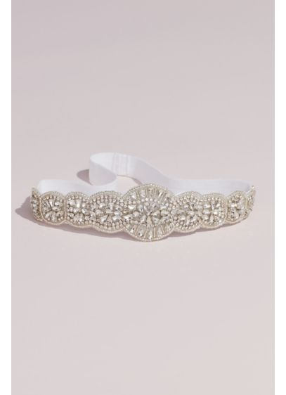 Allover Beaded Vintage Inspired Garter - Embellished with intricate beading and stones, this vintage-inspired