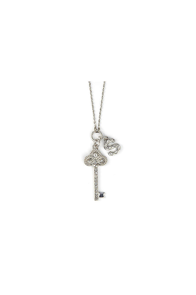 DB Excl Personalized Fleur De Lis Key Necklace - This gorgeous Fleur De Lis Key necklace is
