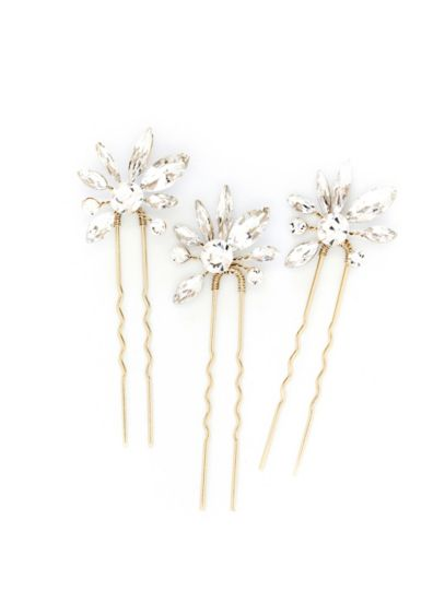 Sunburst Bloom Crystal Hair Pin Set - Wedding Accessories