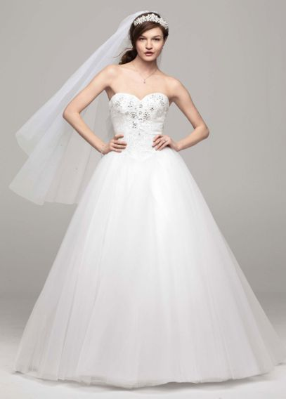 dress for the wedding no strapless tulle gown with beading david s 3693