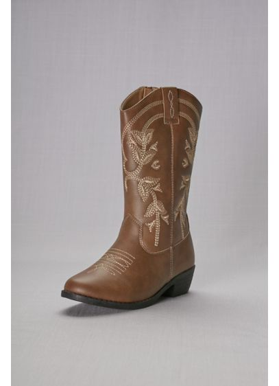 Kensie Girl Brown (Girls Embroidered Cowboy Boots)