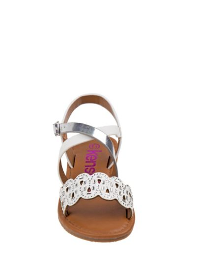 Josmo White (Girls Strappy Cutout Sandals)