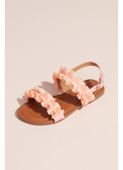 Laura Ashley Pink (Girls Double Ruffle Sandals)