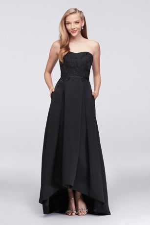 Structured Oleg Cassini High Low Bridesmaid Dress