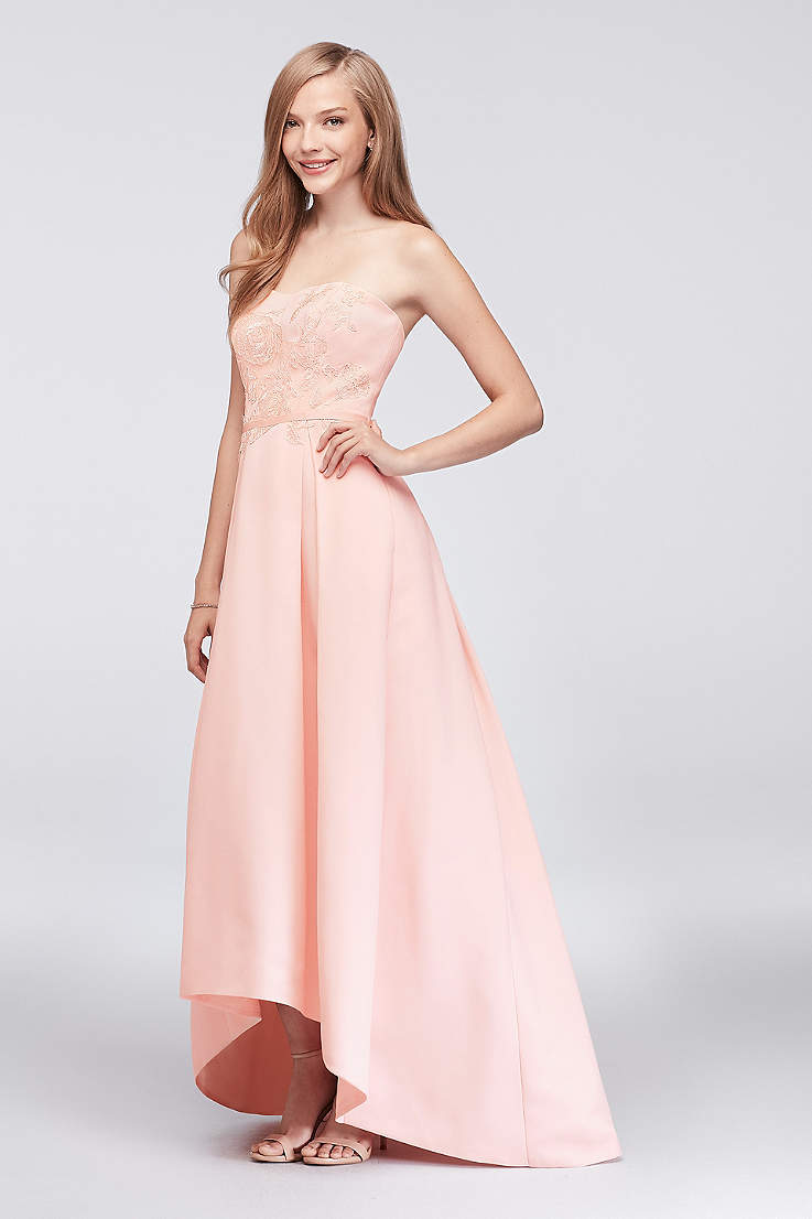 efcaaddc3fc High Low Ballgown Strapless Dress - Oleg Cassini