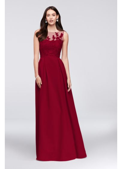 Long A-Line Glamorous Wedding Dress -