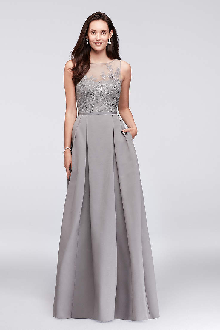 Grey And Silver Prom Dresses And Gowns Davids Bridal