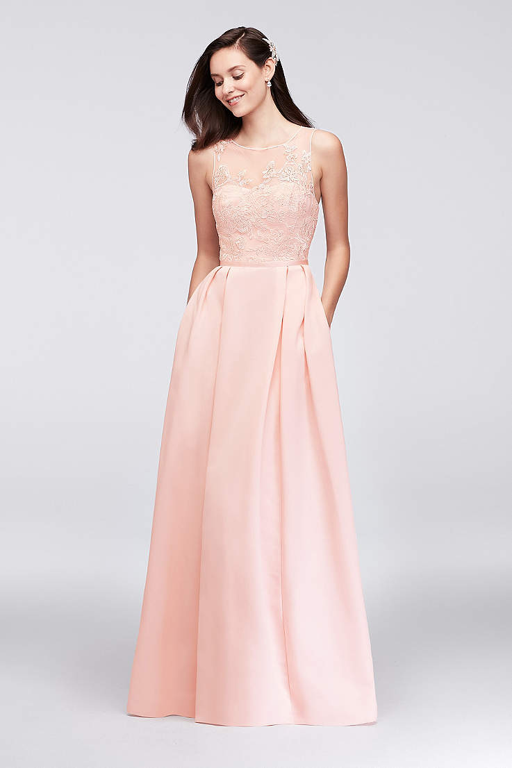 1d29a1148611 Pink Prom Dresses: Blush, Light & Hot Pink Gowns | David's Bridal