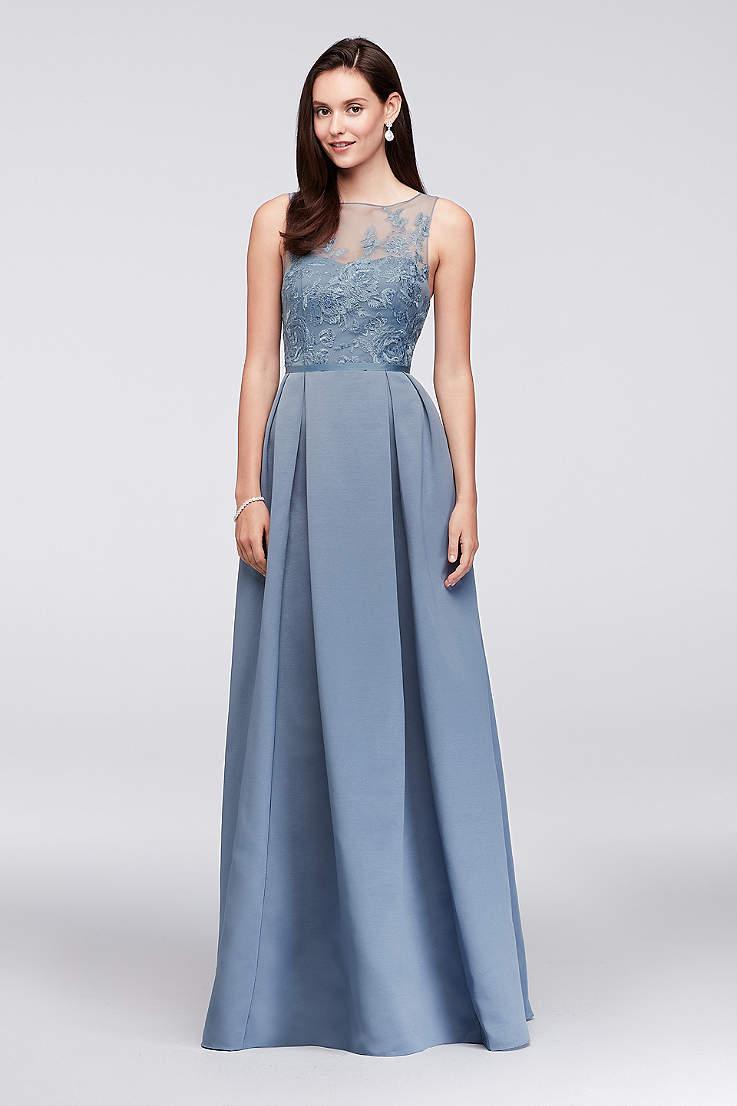 Structured Oleg Cini Long Bridesmaid Dress