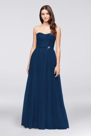 Structured Oleg Cassini Long Bridesmaid Dress