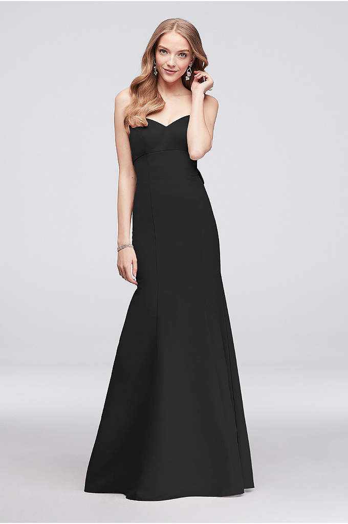 Strapless Faille Mermaid Bridesmaid Dress with Bow