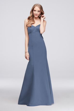 Long Mermaid/ Trumpet Strapless Dress - Oleg Cassini