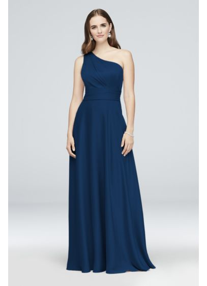 Satin Crepe One-Shoulder Bridesmaid Dress - With a lustrous finish and a super-soft and
