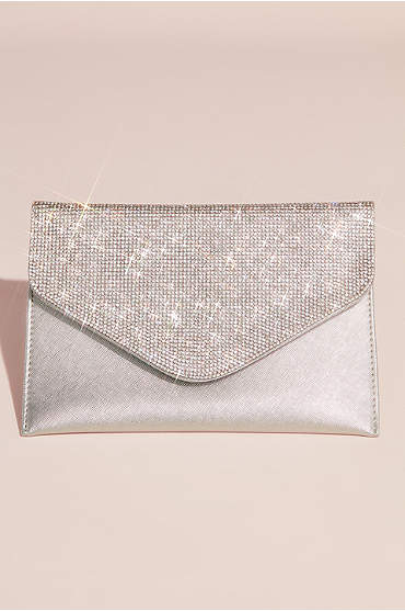 Crystal Flap Envelope Clutch