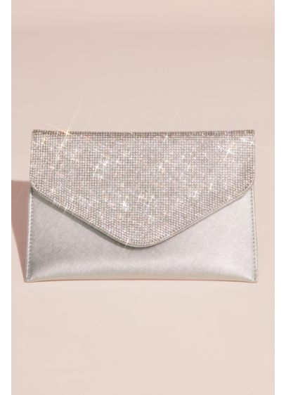 Grey (Crystal Flap Envelope Clutch)