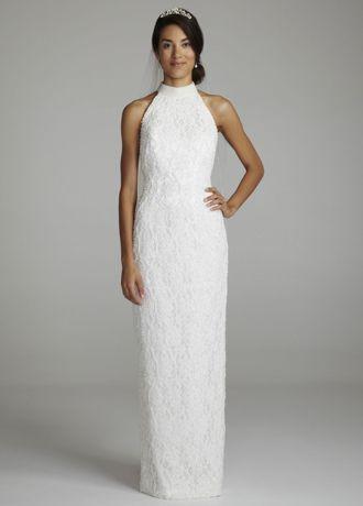 Long Sheath Wedding Dress   Davidu0027s Bridal Collection