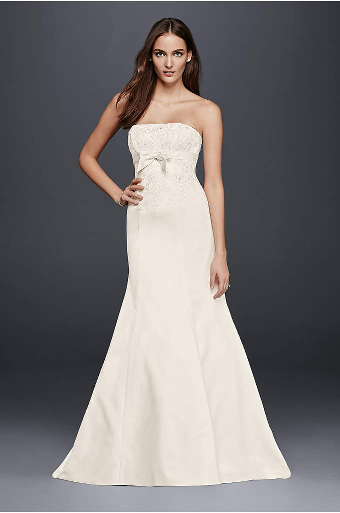 Strapless Mermaid Wedding Dress with Bow Detail