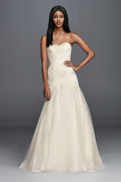 trumpet wedding dresses trumpet wedding dress with lace appliques david s bridal 8092