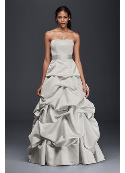 Strapless Drop-Waist Ball Gown with Skirt Pickups | David\'s Bridal