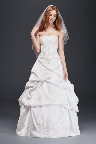 Satin Wedding Ball Gown with Drop Waist | David\'s Bridal
