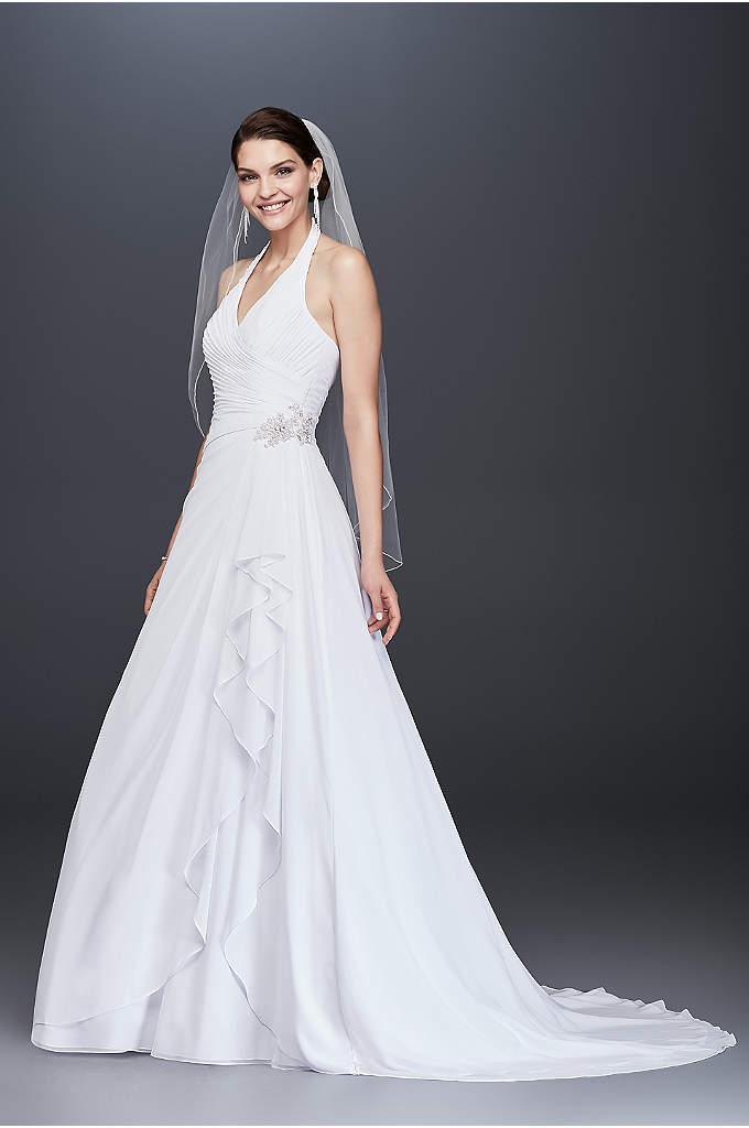 white by vera wang halter sheath wedding dress davids