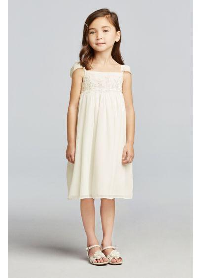 Short Sheath Cap Sleeves Communion Dress - David's Bridal